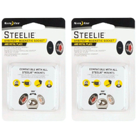 New 2 X Nite Ize Steelie ORBITER Magnetic Socket & Metal Plate 2 Pack XNSTO01R7