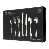 New STANLEY ROGERS BAGUETTE 70 Piece Stainless Steel 70pc Cutlery Set 50567