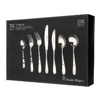 New STANLEY ROGERS HAMPTON 70 Piece Stainless Steel 70pc Cutlery Set 50587