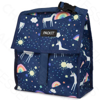 NEW PACKIT PERSONAL COOLER LUNCH BAG FREEZE AND GO - UNICORN SKY PACK IT USA