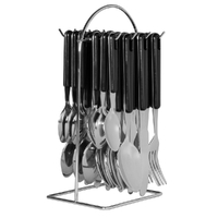 AVANTI BLACK 24 Piece Stainless Steel 24pc Hanging Cutlery Set 16721