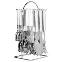 AVANTI WHITE 24 Piece Stainless Steel 24pc Hanging Cutlery Set 16723
