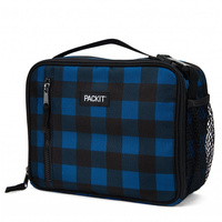 NEW PACKIT VERTICAL COOLER LUNCH BAG FREEZE AND GO - NAVY BUFFALO PACK IT USA DESIGN