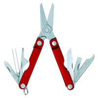 New Leatherman MICRA 10in1 Multi Tool Scissors Keychain Knife - Red *AUTH AUS DEALER*