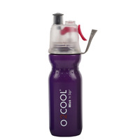 NEW 02 COOL MIST 'N' SIP ARCTIC SQUEEZE 20oz 590ml DRINK BOTTLE PURPLE 02COOL O2COOL