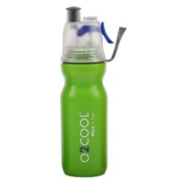 NEW 02 COOL MIST 'N' SIP ARCTIC SQUEEZE 20oz 590ml DRINK BOTTLE GREEN 02COOL O2COOL