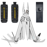 Leatherman WAVE + PLUS Multi-Tool & Leather Sheath + 42 Bit Kit + Bit Extender