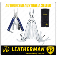 Leatherman WAVE Stainless Steel Multi Tool & Nylon Sheath + SQUIRT PS4 Blue *AUTHAUSDEALER*