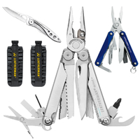 Leatherman WAVE MultiTool + Leather Sheath + 42 BitKit + Crater C33 + Squirt PS4 *AUTHAUSDEALER*