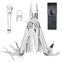 LEATHERMAN Wave Multi Tool & Leather Sheath & Pocket Clip & Lanyard Ring * AUTHAUSDEALER*