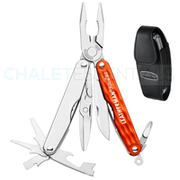 LEATHERMAN JUICE S2 Stainless CINNABAR ORANGE 12 in 1 Multi Tool & Sheath *AUTH AUS DEALER