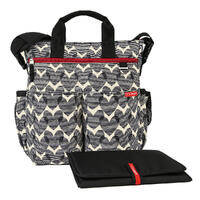 NEW SKIP HOP DUO SIGNATURE NAPPY DIAPER BABY BAG W/ CHANGING MAT - HEART SKIPHOP