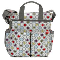 NEW SKIP HOP DUO SIGNATURE NAPPY DIAPER BABY BAG W/ CHANGING MAT - MULTI POD SKIPHOP