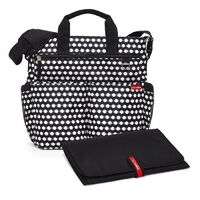 NEW SKIP HOP DUO SIGNATURE NAPPY DIAPER BABY BAG W/ CHANGING MAT - CONNECT DOTS SKIPHOP