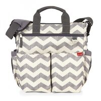 NEW SKIP HOP DUO SIGNATURE NAPPY DIAPER BABY BAG W/ CHANGING MAT - CHEVRON SKIPHOP
