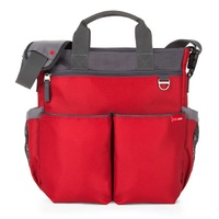 NEW SKIP HOP DUO SIGNATURE NAPPY DIAPER BABY BAG W/ CHANGING MAT - RED SKIPHOP