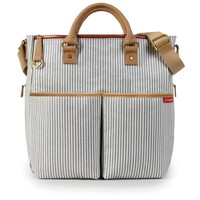 New SKIP HOP DUO Special Edition Nappy Baby Bag W/ Changing Mat FRENCH STRIPE SH200037