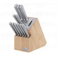 New WILTSHIRE Premium 12 Piece STAINLESS STEEL Knife Block Set W/ Sharpener 41191