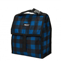 NEW PACKIT PERSONAL COOLER LUNCH BAG FREEZE & GO - NAVY BUFFALO PACK IT USA