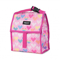 PACKIT PERSONAL COOLER LUNCH BAG FREEZE AND GO - PIXEL HEARTS PACK IT USA DESIGN