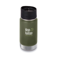 NEW KLEAN KANTEEN INSULATED WIDE 12oz 355ml FRESH PINE GREEN Tea Coffee Water Soup