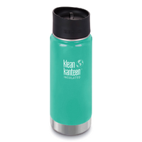NEW KLEAN KANTEEN INSULATED WIDE 16oz 473ml SEA CREST AQUA Tea Coffee Water Soup