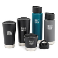 KLEAN KANTEEN COFFEE LOVERS PREMIUM KIT INSULATED TUMBLER WIDE BOTTLE LOOP CAP