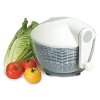 New AVANTI Salad Spinner Dryer Lettuce Serving Bowl With Push Button Brake