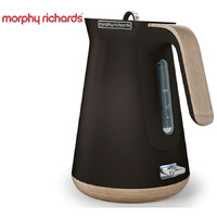 New MORPHY RICHARDS Scandi Aspect BLACK Kettle W/ Wood Trim 100007 Boiler Jug