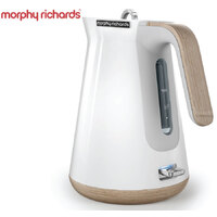 New MORPHY RICHARDS Scandi Aspect WHITE Kettle W/ Wood Trim 100005 Boiler Jug