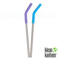 KLEAN KANTEEN 4 PACK STEEL STRAW SET COLOUR , PINTS & TUMBLERS , SILICONE TIP