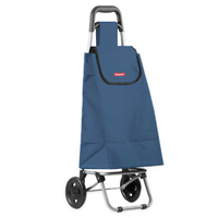 New TYPHOON Shopping Trolley NAVY W/ Wheels Grocery Foldable Cart Bag