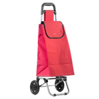 New TYPHOON Shopping Trolley RED W/ Wheels Grocery Foldable Cart Bag