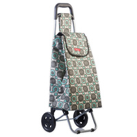 New TYPHOON Shopping Trolley FLORAL W/ Wheels Grocery Foldable Cart Bag