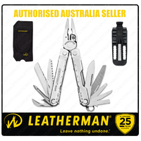 Leatherman REBAR Std Stainless Steel Multi Tool & Nylon Sheath & Bit Driver