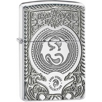 ZIPPO ANNE STOKES DRAGON DREAMS HIGH POLISH CHROME ARMOUR LIGHTER GIFT BOX 98962