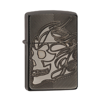 ZIPPO SKULL ARMOUR BLACK ICE DEEP CARVE LIGHTER GIFT BOX 99201