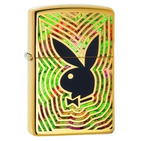 ZIPPO PLAYBOY HIGH POLISH BRASS FUSION LIGHTER GIFT BOX 99215