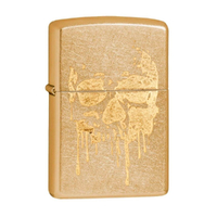 ZIPPO GOLD DUST GRUNGE SKULL FACE LIGHTER GIFT BOX 97145