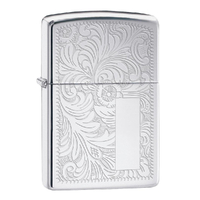 ZIPPO VENETIAN HIGH POLISH CHROME LIGHTER GIFT BOX 90352