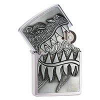 ZIPPO FIRE BREATHING DRAGON SURPRISE CHROME LIGHTER GIFT BOX 98969