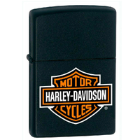 ZIPPO HARLEY DAVIDSON LOGO BLACK MATTE LIGHTER GIFT BOX 94621