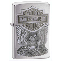ZIPPO HARLEY DAVIDSON MADE IN USA '98 PEWTER CHIP LIGHTER GIFT BOX 94721