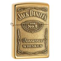 ZIPPO JACK DANIEL'S LABEL BRASS CHIP HIGH POLISH BRASS LIGHTER GIFT BOX 94238