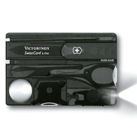 New SWISS ARMY KNIFE Classic Swisscard LED LITE BLACK VICTORINOX