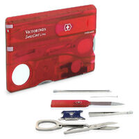 New SWISS ARMY KNIFE Classic Swisscard LED LITE RUBY RED VICTORINOX