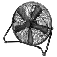 DIMPLEX 50cm High Velocity Floor Fan & Air Circulator 3 Speed BLACK DCFF50BLK