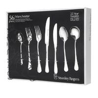 STANLEY ROGERS MANCHESTER 56 Piece Stainless Steel 56pc Cutlery Set 50510
