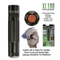 NEW Maglite XL100 LED Black AAA Flashlight Torch