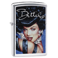 Zippo BETTIE PAGE OLIVIA 29584 Genuine Street Cigar Cigarette Lighter